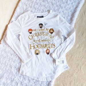 Nwt Harry Potter Christmas Letter Shirt